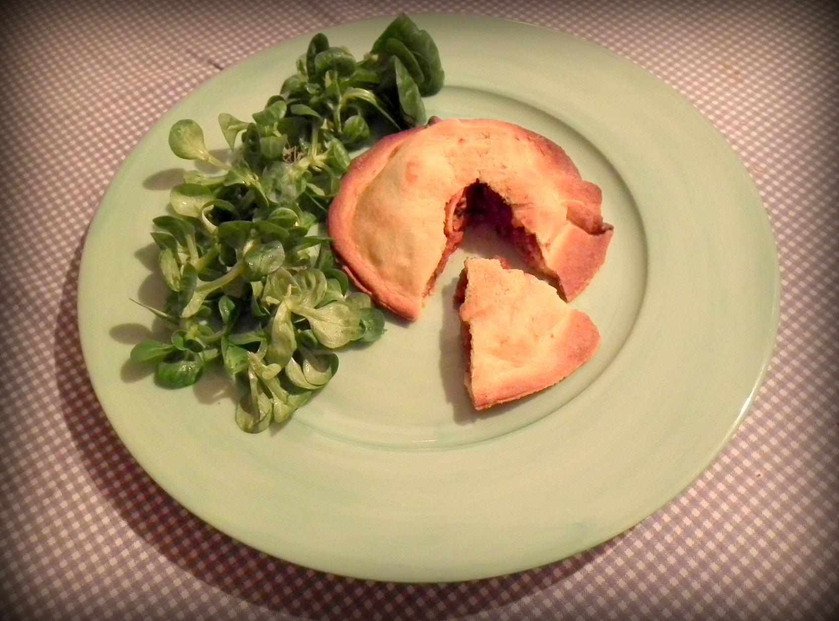 Chausson tomate-boeuf à l'huile d'olive au piment d'Espelette