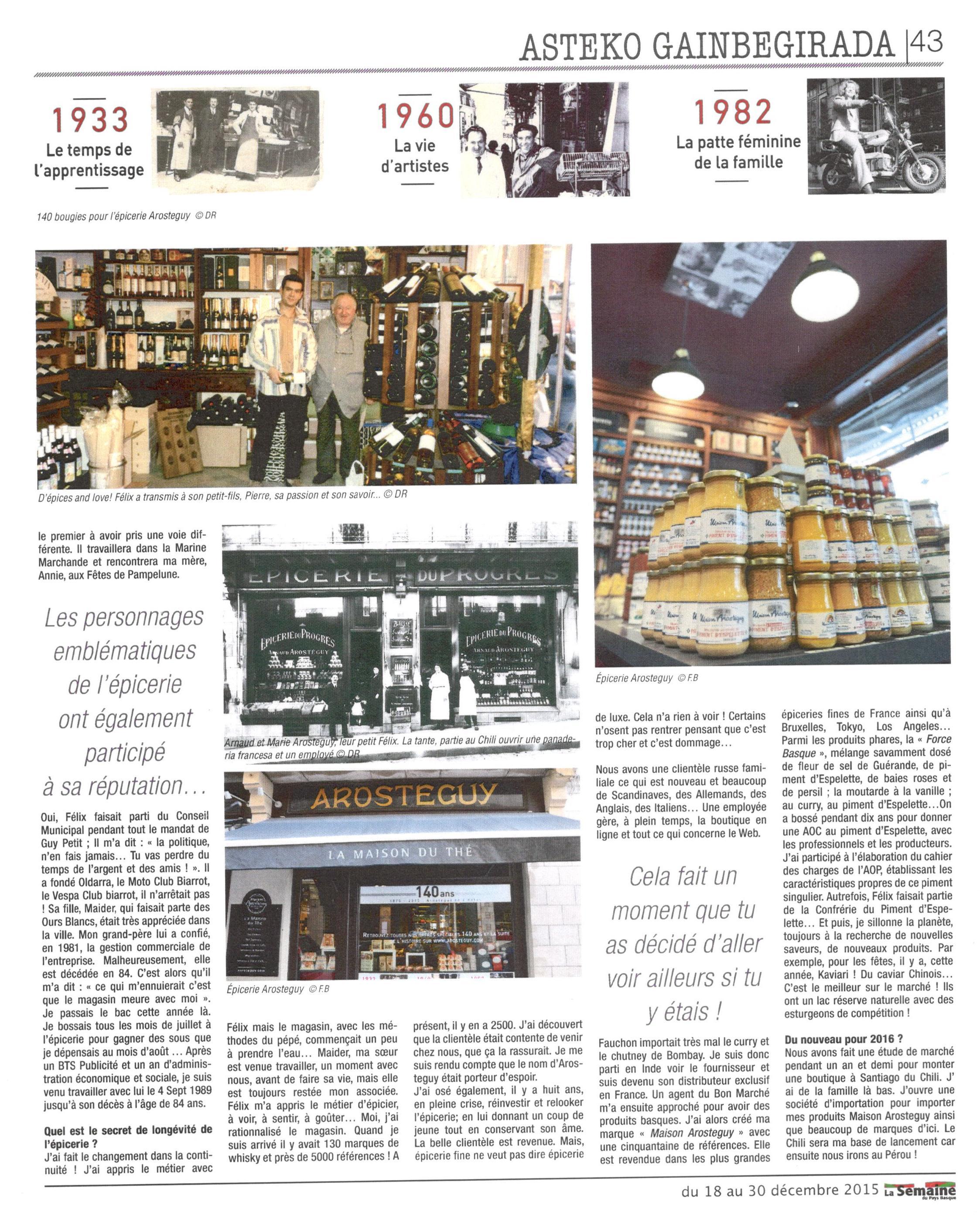 140 ans Maison Arostéguy par la Semaine du Pays Basque