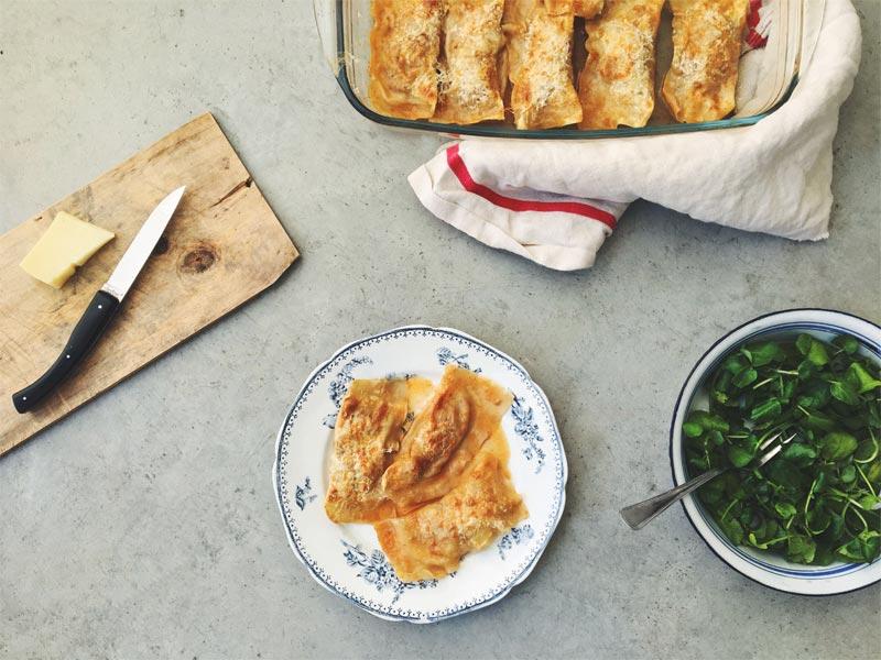 Recette ravioles d'axoa gratinées au fromage Ossau-Iraty