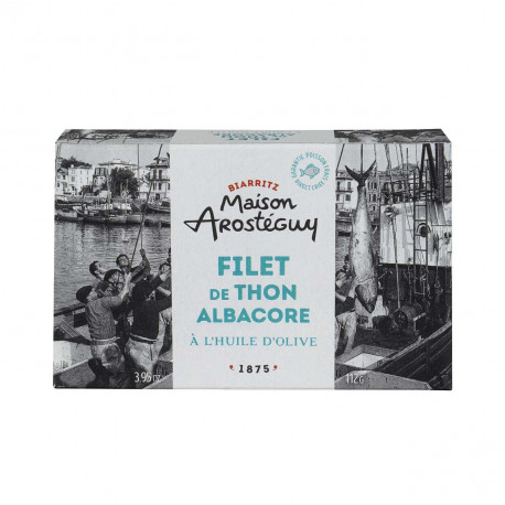 Filet de thon albacore à l'huile d'olive