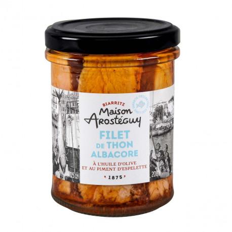Filets de thon albacore à huile d'olive et au piment d'Espelette