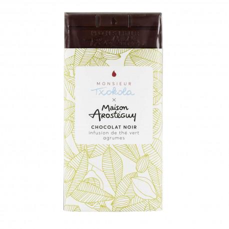 Chocolat noir infusion de thé vert aux agrumes