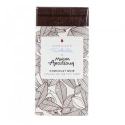 Chocolat noir infusion de thé noir fumé