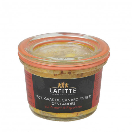 Foie gras de canard au piment d'espelette
