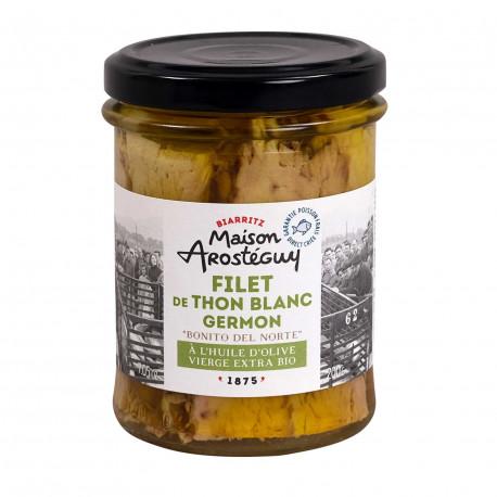 Filet de thon blanc germon à l'huile d'olive vierge extra Bio