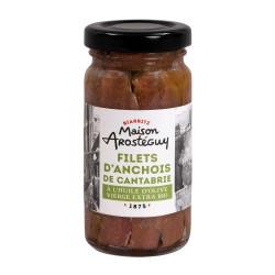Filets d'anchois de Cantabrie à l'huile d'olive vierge extra Bio