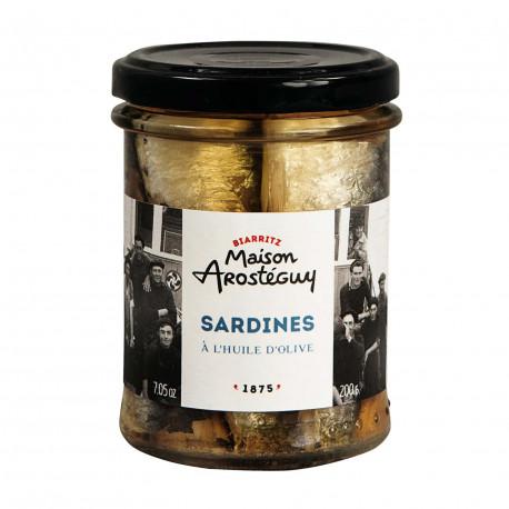 Sardines debout à l'huile d'olive