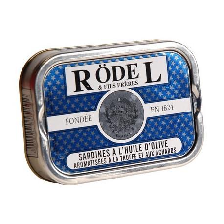 Sardines à l'huile d'olive aromatisées à la truffe et aux achards