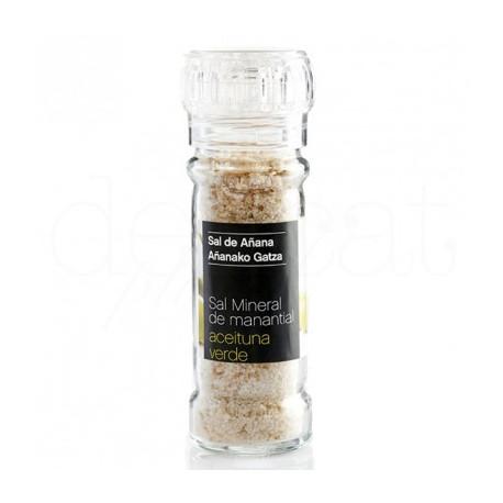 Moulin de sel aux olives vertes