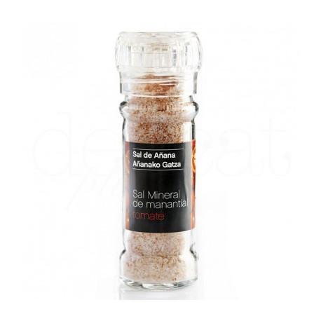 Moulin de sel minéral à la tomate