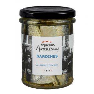 Sardines à l'huile d'olive Maison Arostéguy